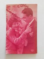 Régi képeslap 1931 szerelmespár fotó Ela levelezőlap