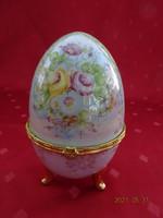 Gyönyörű Fabergé porcelán tojás, magassága 12 cm.