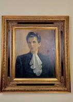Kontuly Béla (1904-1983) aukcionált női portré festménye eladó