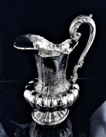 Hatalmas ezüst 1115 g, szecessziós kiöntő