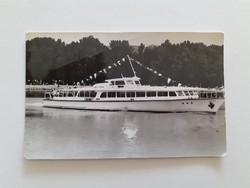 Régi képeslap Balaton SZOT Szabadi hajója levelezőlap
