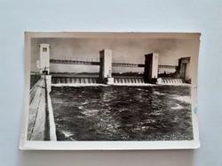 Régi képeslap 1958 Tiszalök Vízierőmű levelezőlap