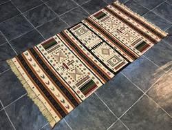KELIM / KILIM kézi szövésű gyapjú szőnyeg, 81 x 161 cm