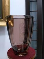 Cseh hántolt csiszolt váza