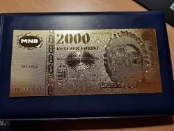 Aranyozott Millenium 2000 forint Fantázia pénz!!!