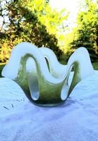 Művész üveg gyümölcs tál, kínáló