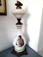 Napóleon portrés petróleum lámpa