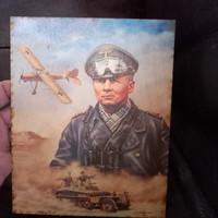 Német náci ss birodalmi fatábla .Erwin Rommel