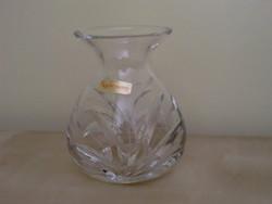 Kristályváza 16 cm kézi csiszolással Nachtmann vastag asztali ólomüveg váza