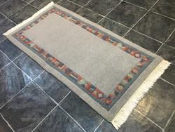 Domború mintás NEPÁLI kézi csomózású gyapjú szőnyeg, 72 x 155 cm