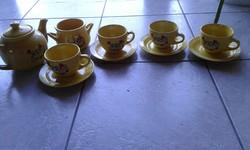 """""""Famili Frost"""" 14 db-os sárga teáskészlet"""