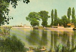 Ba 093 Színes körkép a Balaton vidékről a XX.század közepén .Fonyód Hajóállomás
