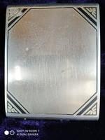 Ezüst 800-as zománc diszitésű cigaretta dózni