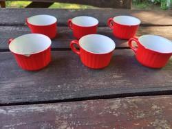 Piros bordázott Gránit csészék
