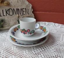 Alföldi porcelán ritkább autós fás szett tányér   bögre Gyönyörű Gyűjtői  nosztalgia darab
