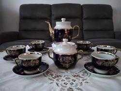 Orosz kobalt kék hosszú kávés készlet