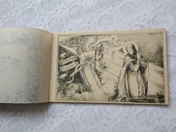 Gyönyörű karácsonyi, vallási képeslapfüzet Márton Lajos festőművész/grafikus alkotásaival 10 db