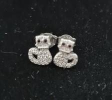 925 ezüst  cicás fülbevaló