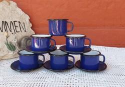 Zománcos retro kávés szett csésze szett kávéscsészék kávéscsésze nosztalgia Gyűjtemény