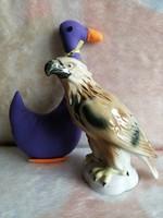 21175A5 Lippelsdorf német porcelán nagyon ritka kézzel festett sas