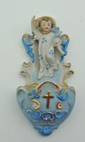 B684 Antik porcelán figurás szenteltvíztartó - szép hibátlan állapotban