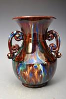 Id. F. Szabó Mihály art deco kerámia váza,  20 cm, - Karcag