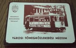 Városi Tömegközlekedési Múzeum régi közlekedési eszközei 8 db színes képeslap mappában-kiadta  BKV