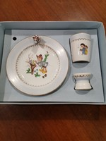 PLFrancia Limoges porcelán reggeliző szett