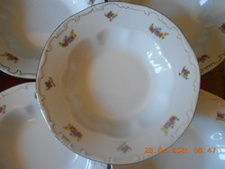 Zsolnay bouquet patterned plate set