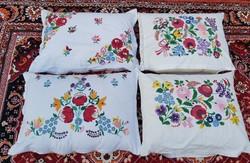 Gyönyörű hímzett  párnahuzat párnák  párna nosztalgia darab, Gyűjtői falusi dekoráció