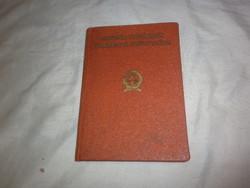 Régi vadász igazolvány 1958