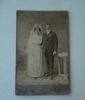 Antik esküvői fotó August Tőke Bruck műtermi fénykép 1912 Királyhída