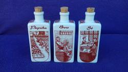 3.db-os porcelán fűszertartó szett