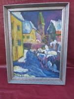 Balla József Nagybányai festő antik festménye