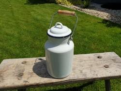 Zománcozott régi vintage nagy 2 L tejeskanna Bonyhád zománcos kanna