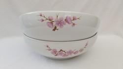 Alföldi porcelán 2 darab nagy tál, Bella készlet, barackvirágos dekor