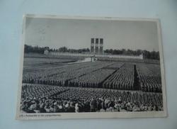 II.világháború Német képeslap Nürnberg SA gyűlés 1938