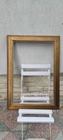 Keret fàból,széles mutatós téglalap alakú tükör, Festmény,réz karc stb!