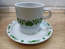 Alföldi porcelán zöld magyaros bögre