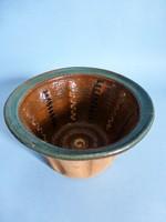 Antik mázas kerámia kuglóf sütő forma