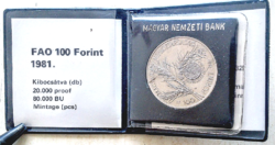 FAO 100 forint - 1981 BU