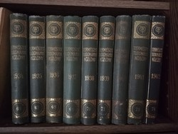 Természettudományi Közlöny 66-74. kötet - 1934-42. Szép állapotban