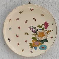 Schütz Cilli fali tányér 1800as évek gyüjteménybe. Gyönyörű falitál virágmintás. XIX.szàzad