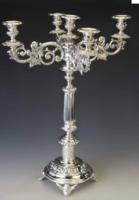 Ezüst antik ötágú kandeláber