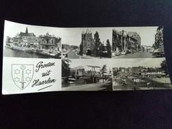 Groeten uit Haarlem Fekete-Fehér Postatiszta Képeslap