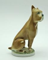 B698 Zsolnay boxer porcelán kutya