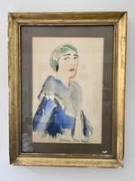 Biai Föglein István (1901-1987): Art Deco női portré