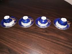 Zsolnay Pompadour kávés, mokkás készlet