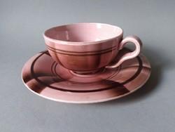 Eva Zeisel art deco/bauhaus 'T-sorozat' teáscsésze+alj,  Hirschau 1931