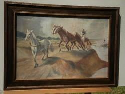 Istókovits Kálmán (1898-1990) - Vontató lovak